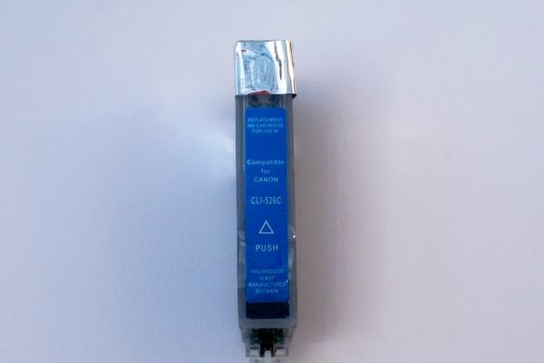 XL Cyan Tinten Patrone f. Canon Pixma MX715 MX882 MX884 MX885 MX886 MX895 , mit Chip kompatibel zu CLI-526 can525C MX